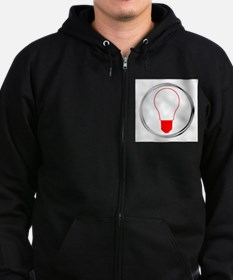 Light Bulb Button Zip Hoodie