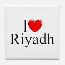 """I Love Riyadh"" Tile Coaster"