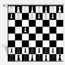 First Move Chess Game Shower Curtain