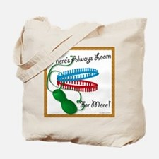 Loom for More Black Text Tote Bag