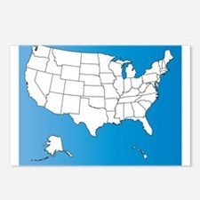 United States of America Postcards (Package of 8)