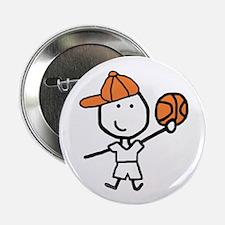 """Boy & Basketball 2.25"""" Button (10 pack)"""