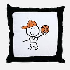Boy & Basketball Throw Pillow