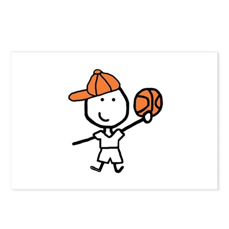 Boy & Basketball Postcards (Package of 8)