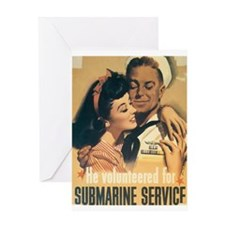 Submarine Service Greeting Card