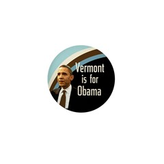 Small Vermont is For Obama Pin