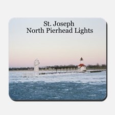 St. Joseph North Pierhead Lights Mousepad