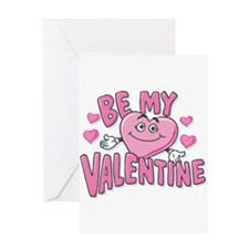 Be My Valentine Pink Heart Greeting Card