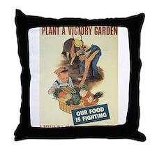 Plant A Victory Garden Throw Pillow
