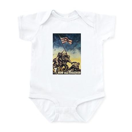 Iwo Jima Flag Raising Infant Bodysuit