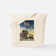 Iwo Jima Flag Raising Tote Bag