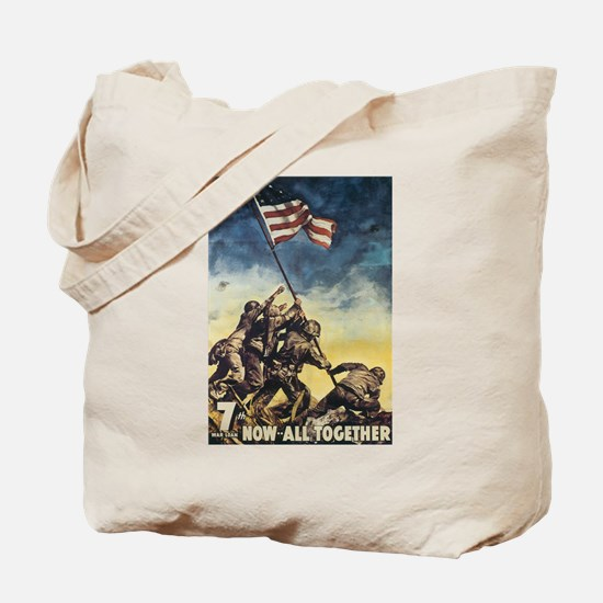 Iwo Jima Flag Raising Tote Bag