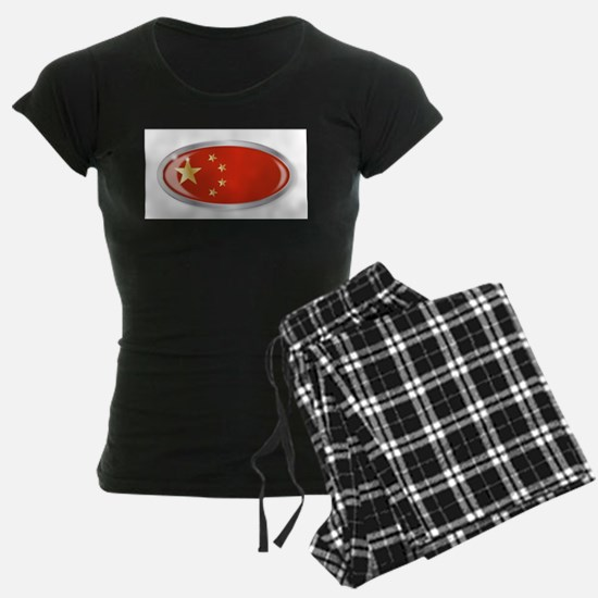 Chinese Flag Oval Button Pajamas