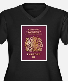 British Passport Plus Size T-Shirt
