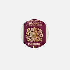 British Passport Mini Button