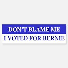 Voted For Bernie Bumper Bumper Bumper Sticker