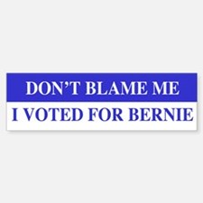 Voted For Bernie Bumper Car Car Sticker