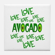 Love Love Avocado Tile Coaster