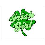 4 Leaf Clover Irish Girl Small Poster