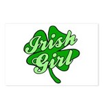 4 Leaf Clover Irish Girl Postcards (Package of 8)