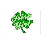 4 Leaf Clover Irish Girl Mini Poster Print