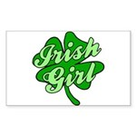 4 Leaf Clover Irish Girl Rectangle Sticker