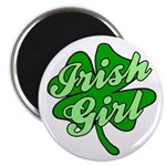 4 Leaf Clover Irish Girl Magnet