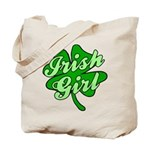 4 Leaf Clover Irish Girl Tote Bag