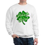 Four Leaf Clover Irish Girl Sweatshirt