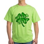 4 Leaf Clover Irish Girl Green T-Shirt