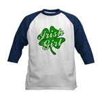 4 Leaf Clover Irish Girl Kids Baseball Jersey