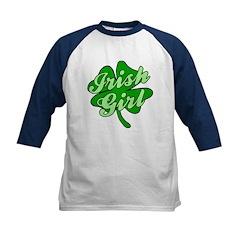 4 Leaf Clover Irish Girl Kids Baseball Jersey