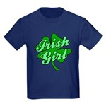 4 Leaf Clover Irish Girl Kids Dark T-Shirt