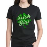 4 Leaf Clover Irish Girl Women's Dark T-Shirt