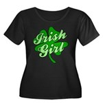4 Leaf Clover Irish Girl Women's Plus Size Scoop N
