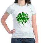 4 Leaf Clover Irish Girl Jr. Ringer T-Shirt