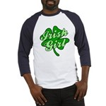 4 Leaf Clover Irish Girl Baseball Jersey