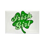 IRISH GIRL with SHAMROCK Rectangle Magnet (10 pack