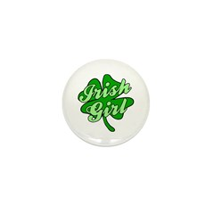 4 Leaf Clover Irish Girl Mini Button (100 pack)