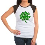 4 Leaf Clover Irish Girl Women's Cap Sleeve T-Shir
