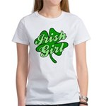 IRISH GIRL with SHAMROCK Women's T-Shirt