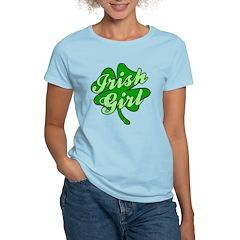 4 Leaf Clover Irish Girl T-Shirt