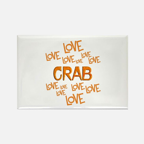 Love Love Crab Rectangle Magnet