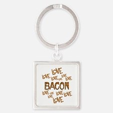 Love Love Bacon Square Keychain