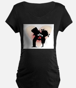 Lovers First Kiss Maternity T-Shirt