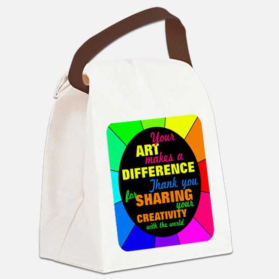 International Artists Day Canvas Lunch Bag