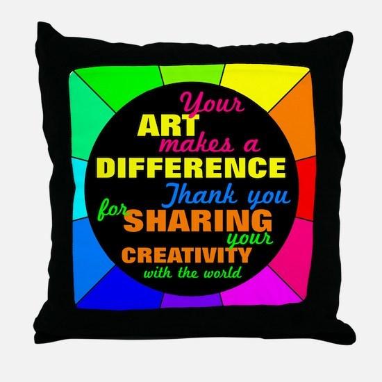International Artists Day Throw Pillow