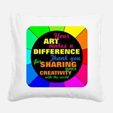 International Artists Day Square Canvas Pillow