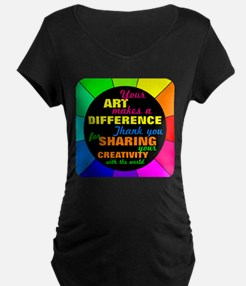 International Artists Day Maternity T-Shirt