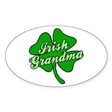 Irish Grandma Oval Decal